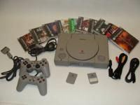 Sony PlayStation 2 Game System (Model SCPH-39001) w/14 games for