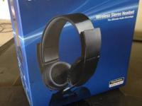Sony Playstation 3 Wireless Stereo Headset. Gently made