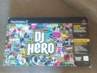 Up for sale is a DJ Hero set for PlayStation Two. This