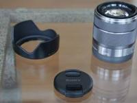 This is a used Sony Alpha SEL1855 E-mount 18-55mm