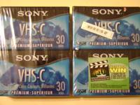 These are brand new video cassette tape for camcorder