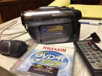Sony Video Camcorder w/ remote, charger for $60  Model