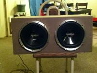 "I have a very nice speaker  box with two 12"" sony"