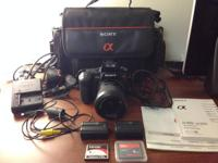 I have a Sony Alpha DSLR-A350 in excellent condition. I