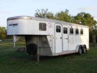 2002 Sooner Mirage 4 Horse Aluminum Trailer for sale.
