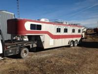 Sooner brand 30 ft. show trailer. This trailer can
