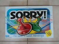 "The game ""Sorry"" by Parker Brothers. Box and all"