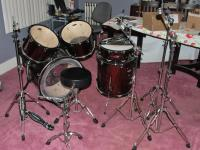 For Sale: 5 piece Sound Percussion drum set, red