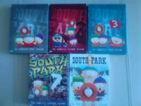 5 Seasons of South Park. 1,2,3,7,8 (Used) Like all