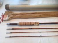 South Bend Bamboo Fly Rod, model 59-9, 9 foot, 3/2, 6