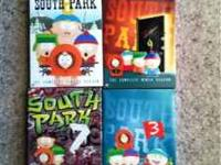 South Park seasons 3,7,8 and 9. All in perfect
