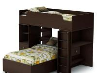 This Loft twin bunk bed set includes the 4 items you