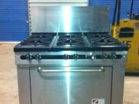 "GENTLY USED SOUTHBEND 36"" 6 BURNER COMMERICAL STAINLESS"