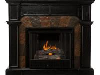 This Fireplace features a fabulous ebony hue that is