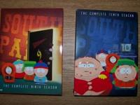 complete 9th and 10th seasons of Southpark on DVDs