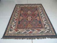 WOOL RUG 8 FT BY 5 1/2 FT SOUHTHWEST DESIGN VERY CLEAN