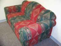 Southwest style loveseat with 4 matching pillows for