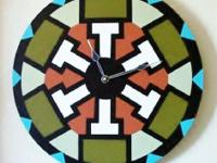 Southwest Wall Clock. Decorative Wall Dcor. Hand made,