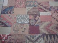 "I have a Southwestern style scatter rug (62"" x 94"")"