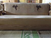 Special vinyl couch and chair with southwestern motif