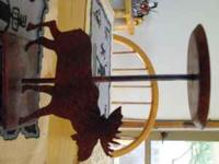 moose candle holder and southwestern kitchen platter or