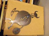southwestern symbol wall hanging, very thick metal,