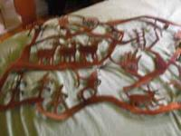 southwestern metal wall hanging, very large, firm on