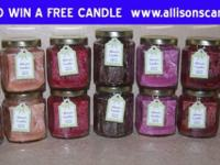 Our handmade scented Soy or Palm wax container candles