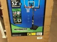 "We are offering a Spalding 52"" Acrylic Backboard for"