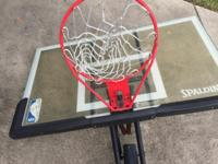"Spalding 54"" in ground acrylic basketball hoop in very"