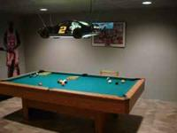spalding 8 foot pool table not slate felt not ripped or