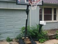 I HAVE A SPALDING  NBA PORTABLE BASKETBALL GOAL YR OLD