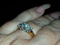 "Beautiful 3-stone engagement ring in classic ""Past,"