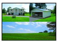8 ac with a 2 story white brick colonial home of