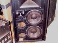 4-JBL SR/SRX series 4732 FOH Speaker Cabinets. Cabinets