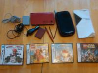 Scandal sheet Nintendo DSi XL (Red) with original box,