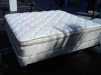 UP FOR SALE IS A NICE THICK KING PILLOWTOP MATTRESS