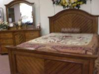 ONE ONLY!!NEW Beautiful Queen Mansion bed solid