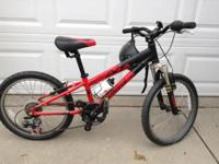 This bike is gently used and shop maintained. Red with