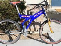 Specialized FSR Full suspension mountain bike. Bike is