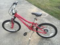 "Specialized hot rock 20"" girls 6 speed mountain bike in"