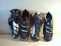 Two pair of Specialized Shoes. Womens 8.5 $30. Mens 8.5