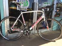 This Specialized Tarmac Road Bike is in great shape.