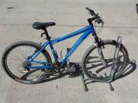 Specialized rockhopper mountain bike with accessories