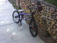 Purple Specialyzed freestyle frame, Specialyzed tires,