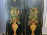 Definitely Stunning Vintage Hand Painted French Armoire