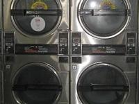 Good condition Speed Queen 30LB Stack Dryer Stainless