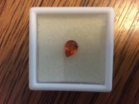 Beautiful 1.60ct pear shaped spessartite garnet for