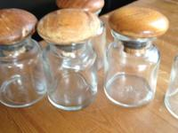 I am selling 10 glass small glass jars, which seem most