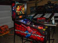 This is a very nice Spiderman pinball machine made by